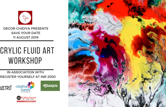 Acrylic fluid art workshop by Decor Chidiya