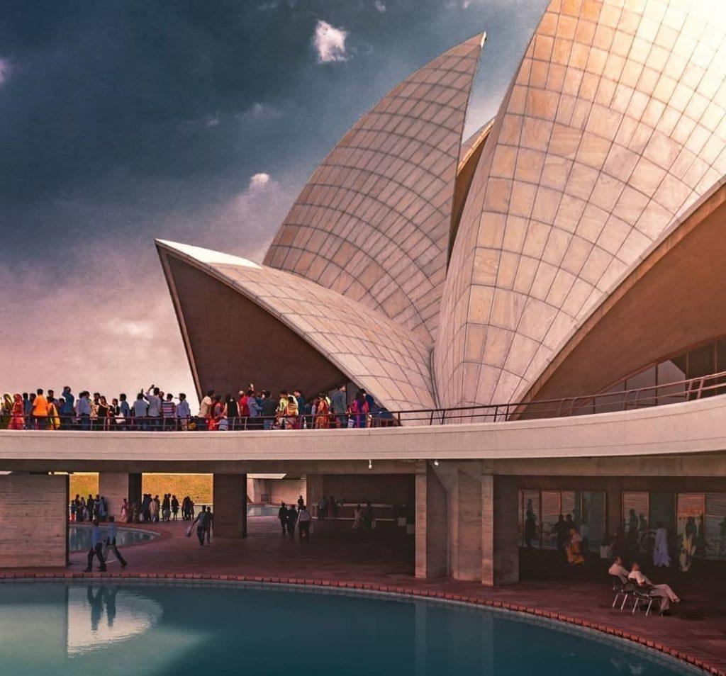 Lotus Temple Delhi Architecture