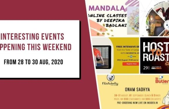 Interesting Events Happening this Weekend | 28 to 30 Aug, 2020