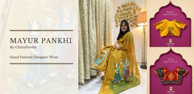 Mayur Pankhi By Chitra Veethi – Hand Painted Designer Wear