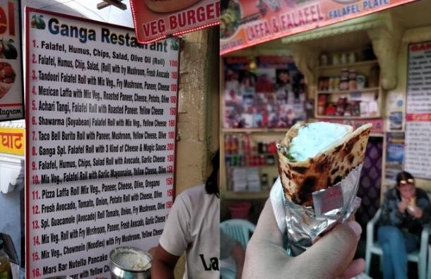 Street-Food-in-Pushkar-falafel-roll
